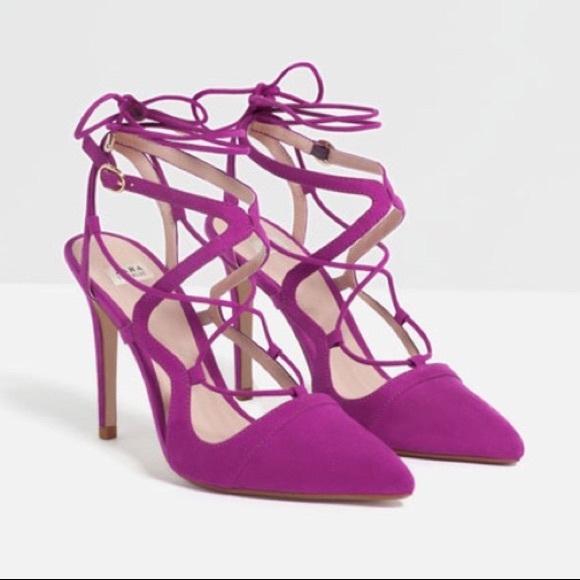 5e502bb6c81 Zara lace up heels